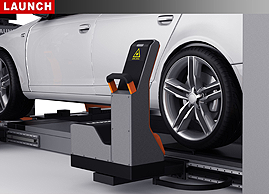 Touchless wheel alignment